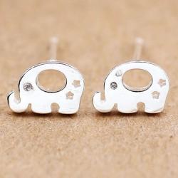 Boucles d'oreilles animaux mignons Boucles d'oreilles éléphant en argent pour femmes