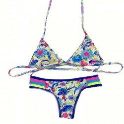 Sexy Thong Small Chrysanthemum Bikini Swimsuit Swimwear Bathingsuit