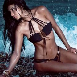 Metal Buckle Straps Bikini Beach Bathing Suits Swimwear