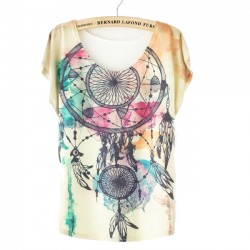 Fashion Dream Catcher Printed T-Shirt