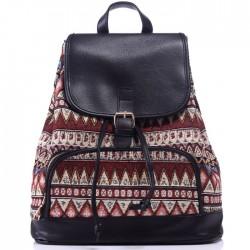 Sac à dos original de géométrie de loisir de sac à dos d'impression irrégulière de petit sac à dos en toile