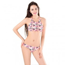 Honey bees Printing  Swimsuit Swimwear Bikini Set Bathingsuit