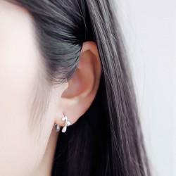 Boucles d'oreille en forme de feuille d'argent sterling 925 avec boucles d'oreilles originales