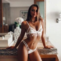 Lingerie intime Sexy Lace Perspective Femmes Dot Soutien-gorge