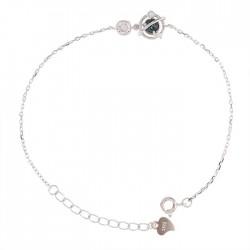 Unique Conception Cristal Planète Bracelet dame en argent