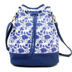 Sac à dos de sac de voyage de sac de voyage bleu et blanc original de mode de toile