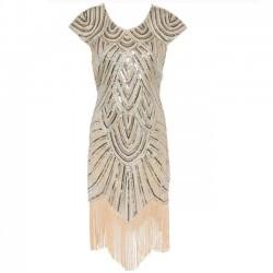 Paillettes glands robe des femmes de luxe robe de soirée
