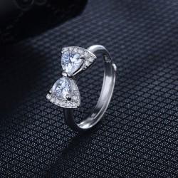 Bague Tendance Arc Diamant Réglable