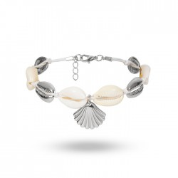 Leisure Beach Handmade Woven Footwear Ethnic Shell Alloy Scallop Anklet