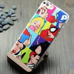 Parodie Superman Homme araignée Homme chauve-souris IPhone5 / 6 Cas