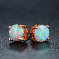 Conception unique ronde mignonne boucles d'oreilles opale boucles d'oreilles de mariée vintage goujons