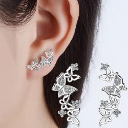 Boucles d'oreilles coeur de femmes de la mode diamant diamant bijoux longs boucles d'oreilles