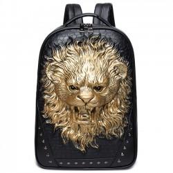Les sacs à dos féroces stéréo du voyage Punk d'unité centrale de grands animaux des hommes 3D frais