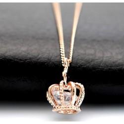 Mode Brillant Se leva faux diamant Couronne Collier