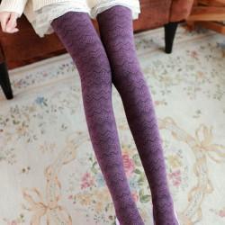Collants / chaussettes / bas en coton à motifs vagues