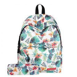 Leisure Leaf Student Rucksack Leaves Branch Flower School Backpack