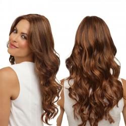 Nouvelle perruque africaine longue ondulée brune