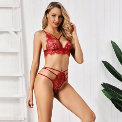 Sexy Lace Sheer Bra Set Underwear Sling Intimate Women Lingerie