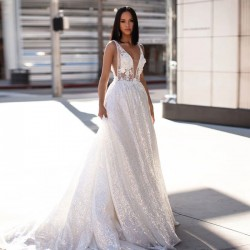 Sexy fleur blanche dentelle maille soutien-gorge robe longue sans manches robe de demoiselle d'honneur robe de bal