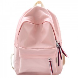 Fresh Solid Color Waterproof Lightweight College Literary School Bag Student Backpack