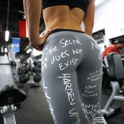 Pantalon de yoga à imprimé de lettres de loisirs Leggings de sport pour femmes