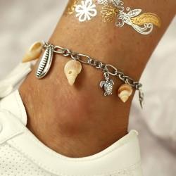 Métal de conque créative Pendentif Coquillage Tortue Cheville femme