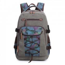 Rétro grand sac à dos en toile Sac à bandoulière pour homme Sac à dos de voyage