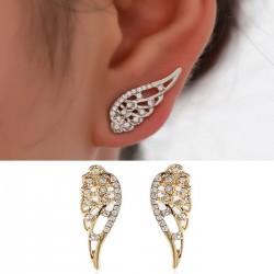 Boucles d'oreilles de fille mignon ange ailes strass fille