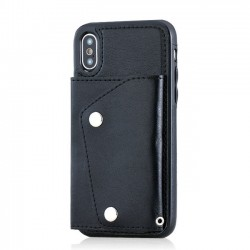 Étui pour téléphone portable rétro multi-fonctions résistant aux chapelets Carte pour appareils Iphonex
