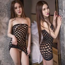 Filet de Poisson Intime Sexy Noir Chemise de nuit femmes Lingerie