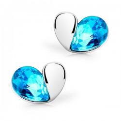 Plaqué or Boucles d'oreilles coeur en cristal magique