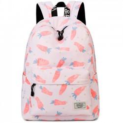 Belle toile fruits mignon animal légume aquarelle carotte peinture filles école sac à dos