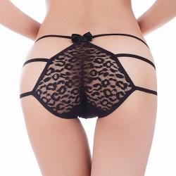 Pantalons noirs sexy en dentelle lingerie lingerie intime femmes