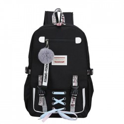 Leisure Large USB Interface Shoelace Bundle Student Bag Sport Backpack