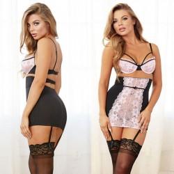Sexy Temptation Sling Women White Lace Nightdress Skirt Intimate Lingerie