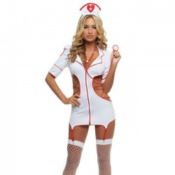 Sexy Cosplay Infirmière Uniforme Femmes Lingerie Intime