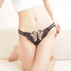 Sexy Dame Dentelle Papillon Un pantalon Creux Sous-vêtements Femmes Intime Lingerie