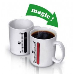 Creative Gift Magic Thermometer Color Changing Ceramic Cup
