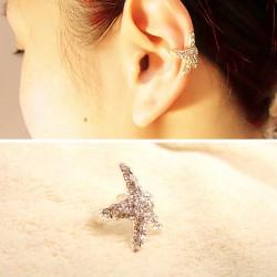 Mignon Brillant faux diamant Étoile de mer Oreille clips