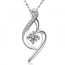 Aimer Cristal Collier en argent diamant