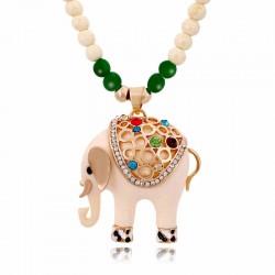 Mignon l'éléphant perles Chandail Collier