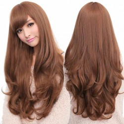 Lady Woman Lovely Long Wavy Wigs 3 Colors Available