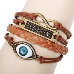 Best Friend Eye Infinity Rope Bracelet