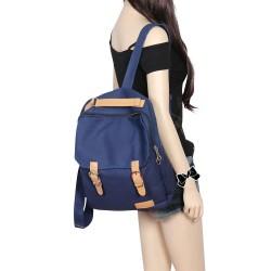 Mode style Capacité Toile Multifonctions Sac à dos et sac à main et sac à bandoulière