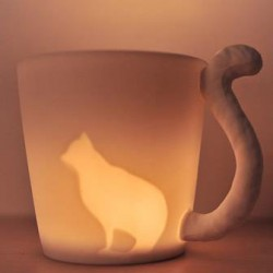 Fairy Forest Animal Light Frosted Mug Cup/Candle Cup