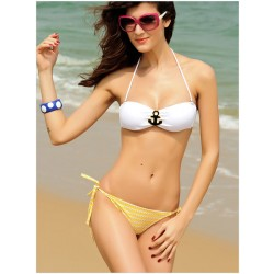Sexy Anchor Strapless Sling Bikinis