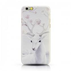 Art Noël Neige Wapiti blanc Le soulagement Frais IPhone 5 / 5s / 6 / 6p Cas