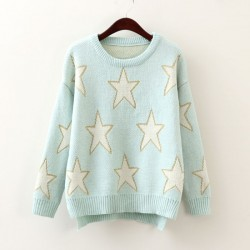 Star Pullover Sweet Long Sleeve Sweater
