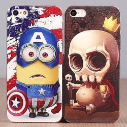 Mince Personnalité Minions & Skull Iphone 4/5/6 / 6s Cas