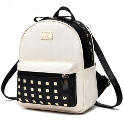Loisirs école rivets épissage couleur bloquant sac à dos carrée fille sac à dos